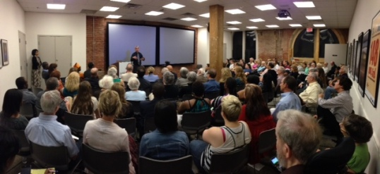 Carl Wilkens speaks to at the Dallas Holocaust Museum on May 16, 2013