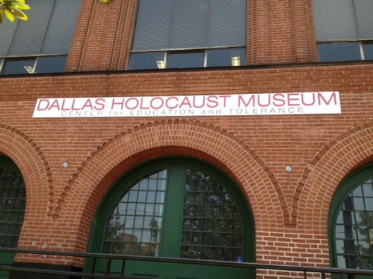 The new sign at the Dallas Holocaust Museum/Center for Education and Tolerance
